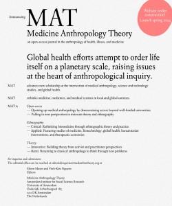 Lancement prochain de la revue MAT | Medicine Anthropology Theory